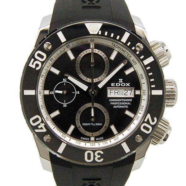 EDOX【エドックス】 クロノオフショア1 クロノグラフ 01117-3-NINRA 腕時計 ステンレススチール/ステンレススチール メンズ