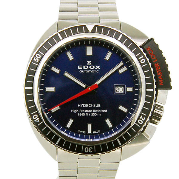 EDOX【エドックス】 ハイドロサブ オートマティック 80301-3NM-BUIN 腕時計 SS/SS(ステンレススチール) メンズ