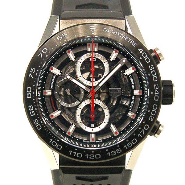 TAG HEUER【タグホイヤー】 カレラ キャリバー ホイヤー01 ブラック ラバー CAR2A1Z.FT6044 腕時計 SS/SS(ステンレススチール) メンズ