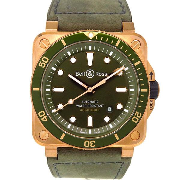 Bell&Ross【ベル&ロス】 BR0392-D-G-BR/SCABR03-92 ダイバー ブロンズ 7445 腕時計 /ブロンズ メンズ