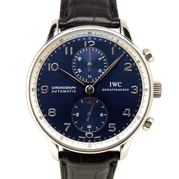 【外装仕上げ済み】IWC ポルトギーゼ クロノグラフ ローレウス IW371432 ブルー 世界2000本限定 41mm USED 中古【メンズ】