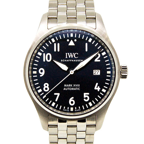 the best attitude ae0a6 05b9d Pilot at IWC watch mark 18 プティ plans IW327004 blue 40mm USED is used