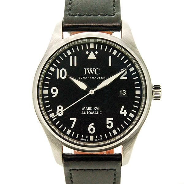 【国際保証書有り】IWC パイロットウォッチ マーク18 IW327001 ブラック 革 40mm USED 中古【メンズ】