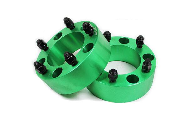 ワイドトレッドスペーサー 5穴 2枚組 PCD150 ボルトピッチM14X1.5 厚さ60mm グリーン
