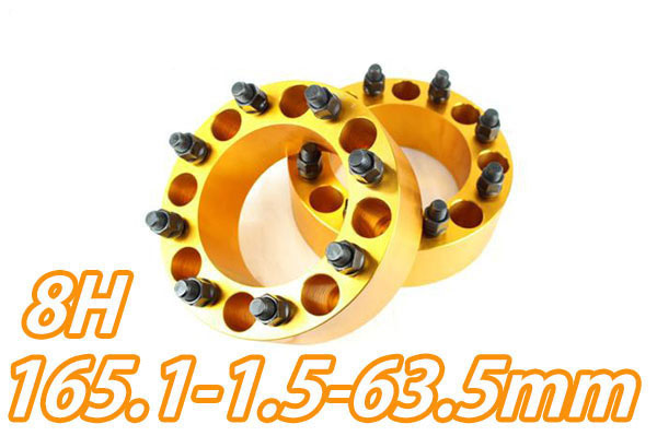 【沖縄・離島への配送不可】ワイドトレッドスペーサー 8穴 2枚組 PCD165.1 ボルトピッチM14X1.5 厚さ63.5mm