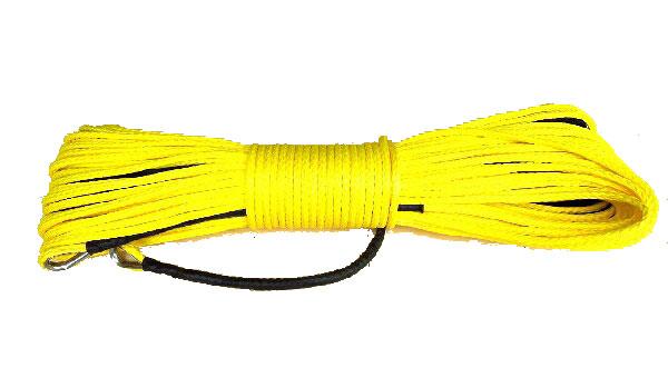 【沖縄・離島への配送不可】シンセティックロープ イエロー5.5mm x 50m 耐荷重 4620LBS(2090kg)