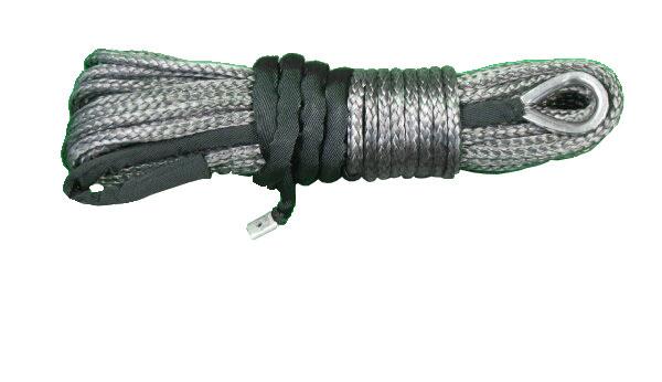【沖縄・離島への配送不可】電動ウインチ用 シンセティックロープ グレー 9.0mm x 28m 耐荷重 12560LBS (5700kg)