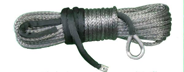 【沖縄・離島への配送不可】電動ウインチ用 シンセティックロープ グレー 9.5mm x 28m 耐荷重 13040LBS (5920kg)