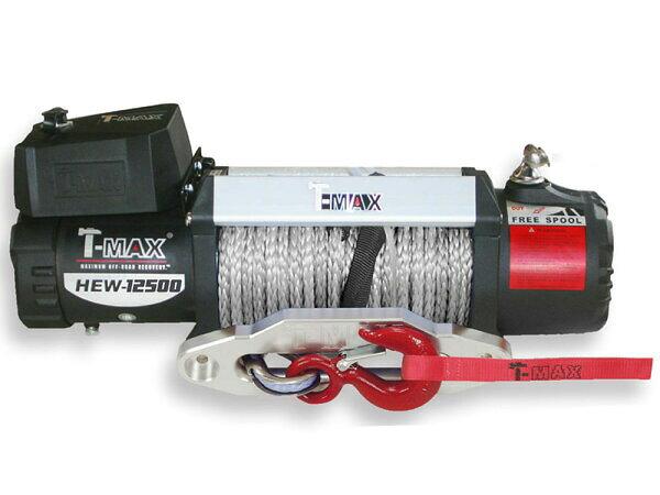 【沖縄・離島への配送不可】T-MAXハンマーマックス 電動ウインチ 12V 12500LBS X-Power ダイニーマロープ