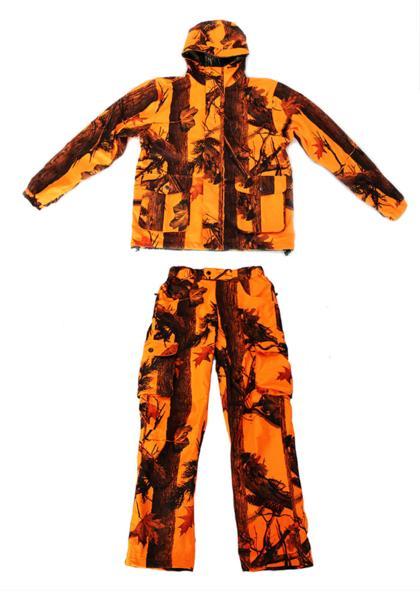 【沖縄・離島への配送不可】期間限定 特別価格 トップシューターリバーシブル迷彩ジャケットオレンジ迷彩パンツ 上下セット2XLサイズ
