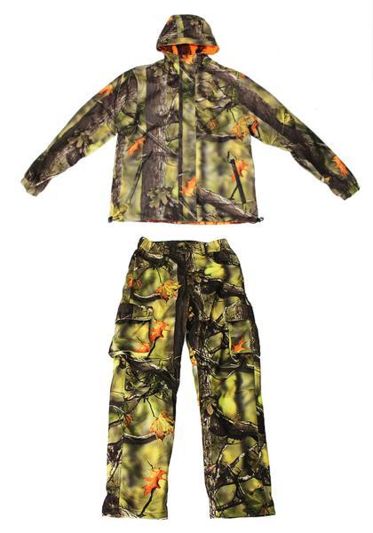 トップシューターリバーシブル迷彩ジャケットグリーン迷彩パンツ 上下セット2XLサイズ