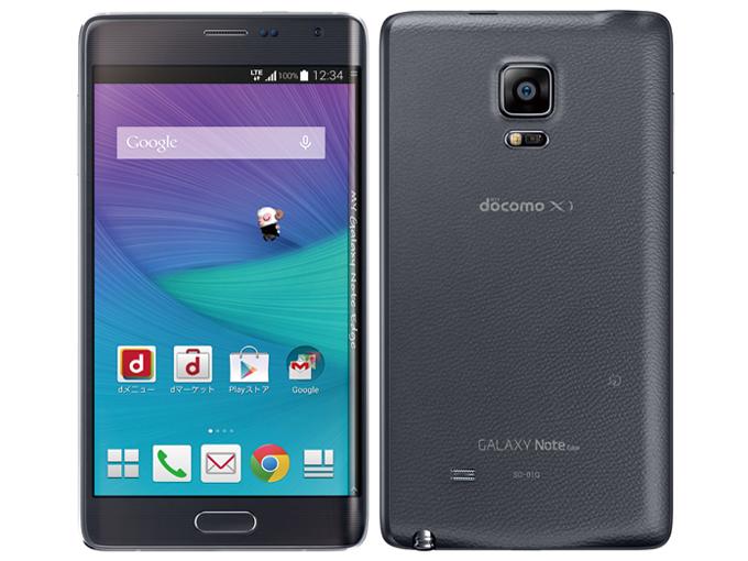 白ロム 中古 SIMフリー docomo Galaxy Note Edge SC-01G ブラック 本体のみ [Aランク]