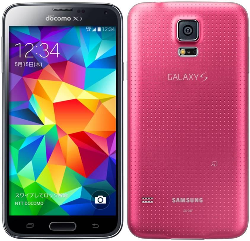 docomo Galaxy S5 SC-04F ピンク 本体のみ [Cランク]【白ロム】