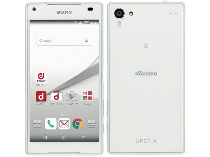 白ロム 中古 docomo Xperia Z5 Compact SO-02H ホワイト 本体のみ [Dランク]
