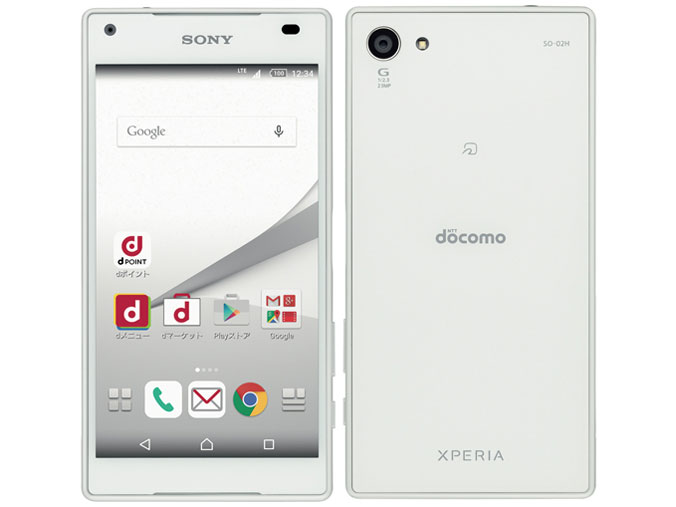 SIMロック解除済み docomo Xperia Z5 Compact SO-02H ホワイト 本体のみ [Bランク] 【白ロム】