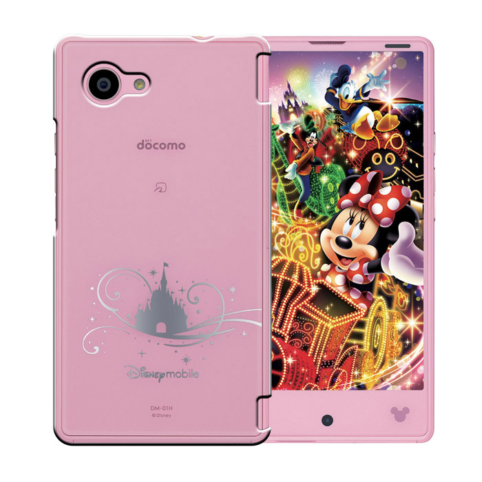 docomo Disney mobile on DM-01H ピンク 本体のみ [Aランク] 【白ロム】
