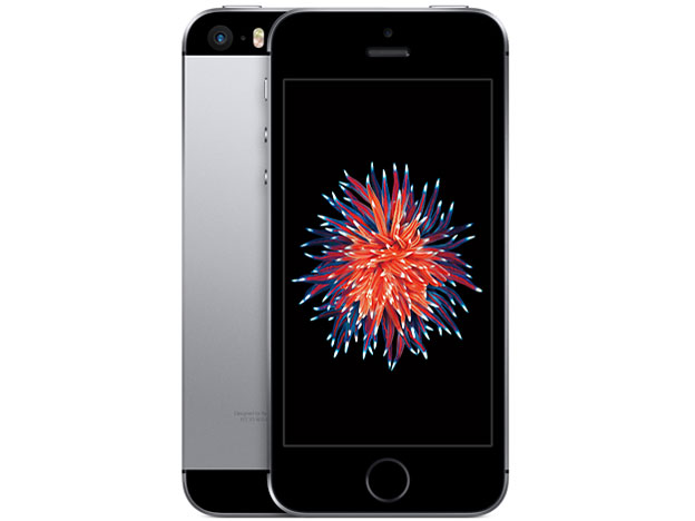 白ロム au iPhone SE 16GB グレイ 本体のみ [Dランク]