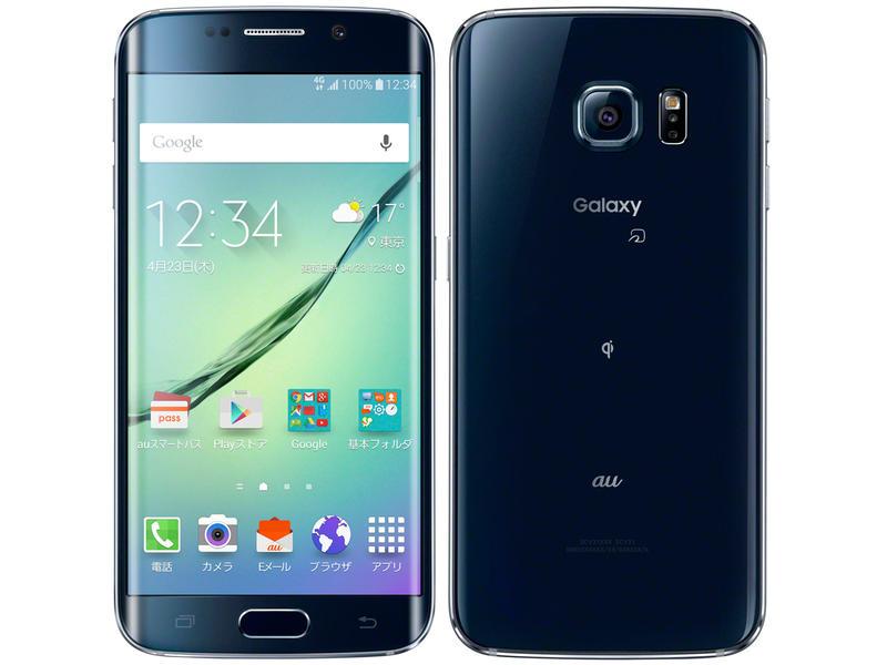 白ロム 中古 au Galaxy S6 edge SCV31 64GB ブラック 標準セット [Cランク]