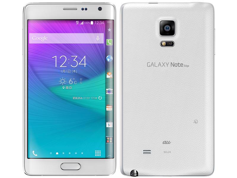 au Galaxy Note Edge SCL24 ホワイト 本体のみ [Cランク]【白ロム】
