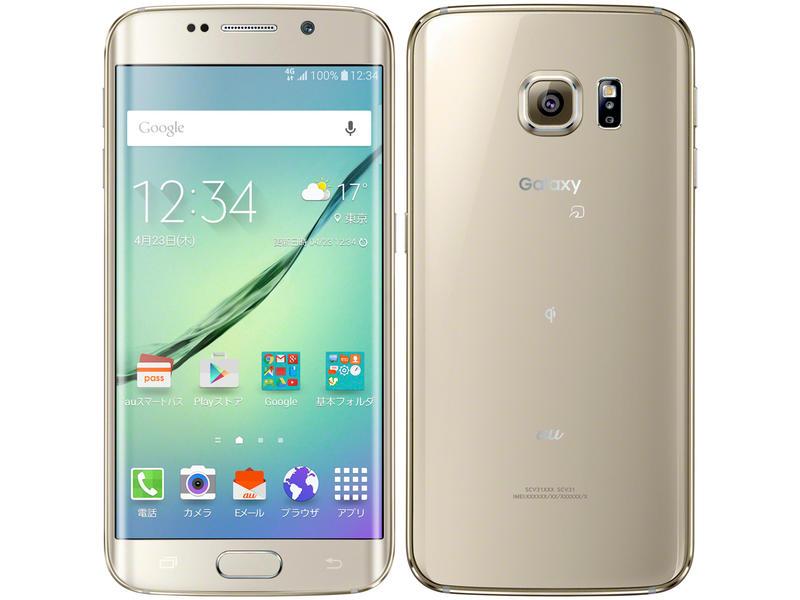 [ ジャンク] au Galaxy AV クッキング S6 edge SCV31 料理 64GB ゴールド ...