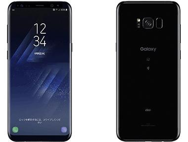 au Galaxy S8+ SCV35 ブラック 本体のみ [Dランク] 【白ロム】
