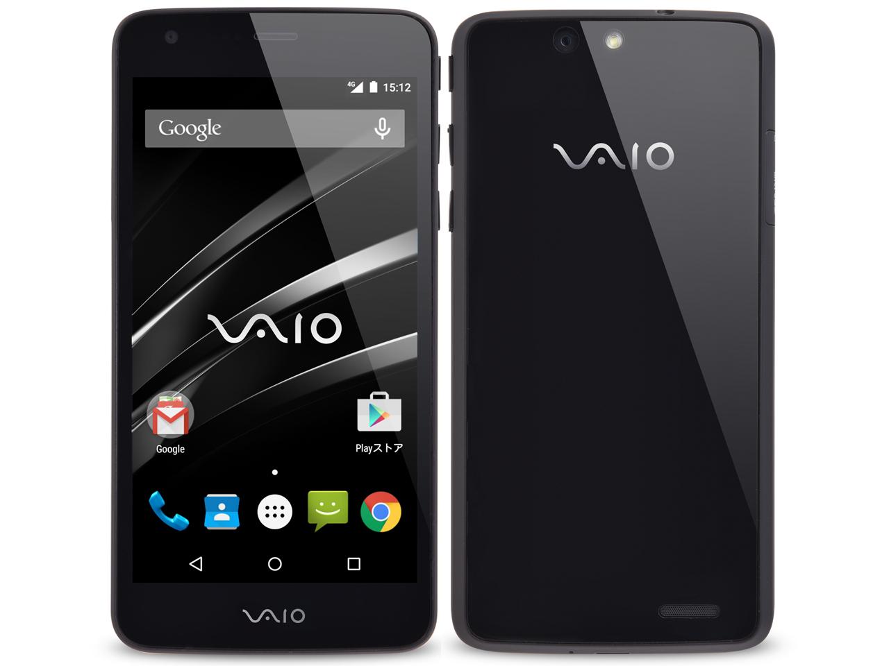 [新品 未使用品] SIMフリー VAIO Phone VA-10J ブラック 標準セット 【白ロム】