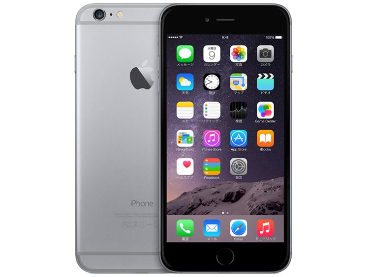 白ロム au iPhone 6 Plus 16GB グレイ 本体のみ [Cランク]