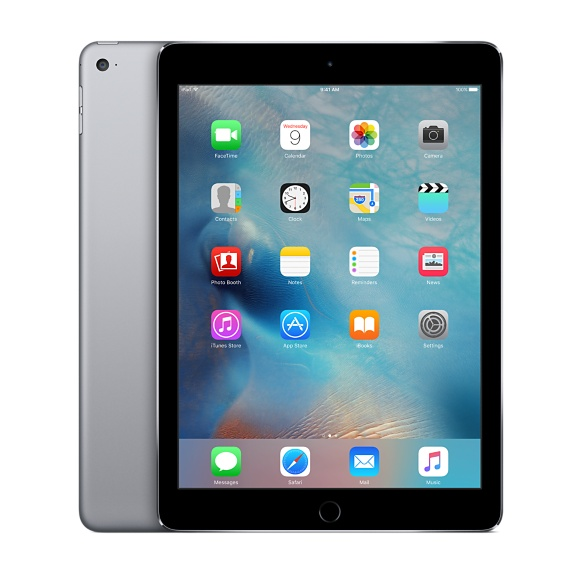 中古 au iPadAir2 Wi-Fi+Cellularモデル 32GB グレイ 本体のみ [Bランク]