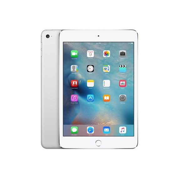 白ロム au iPad mini 4 Wi-Fi+Cellular 128GB シルバー 標準セット [Cランク]