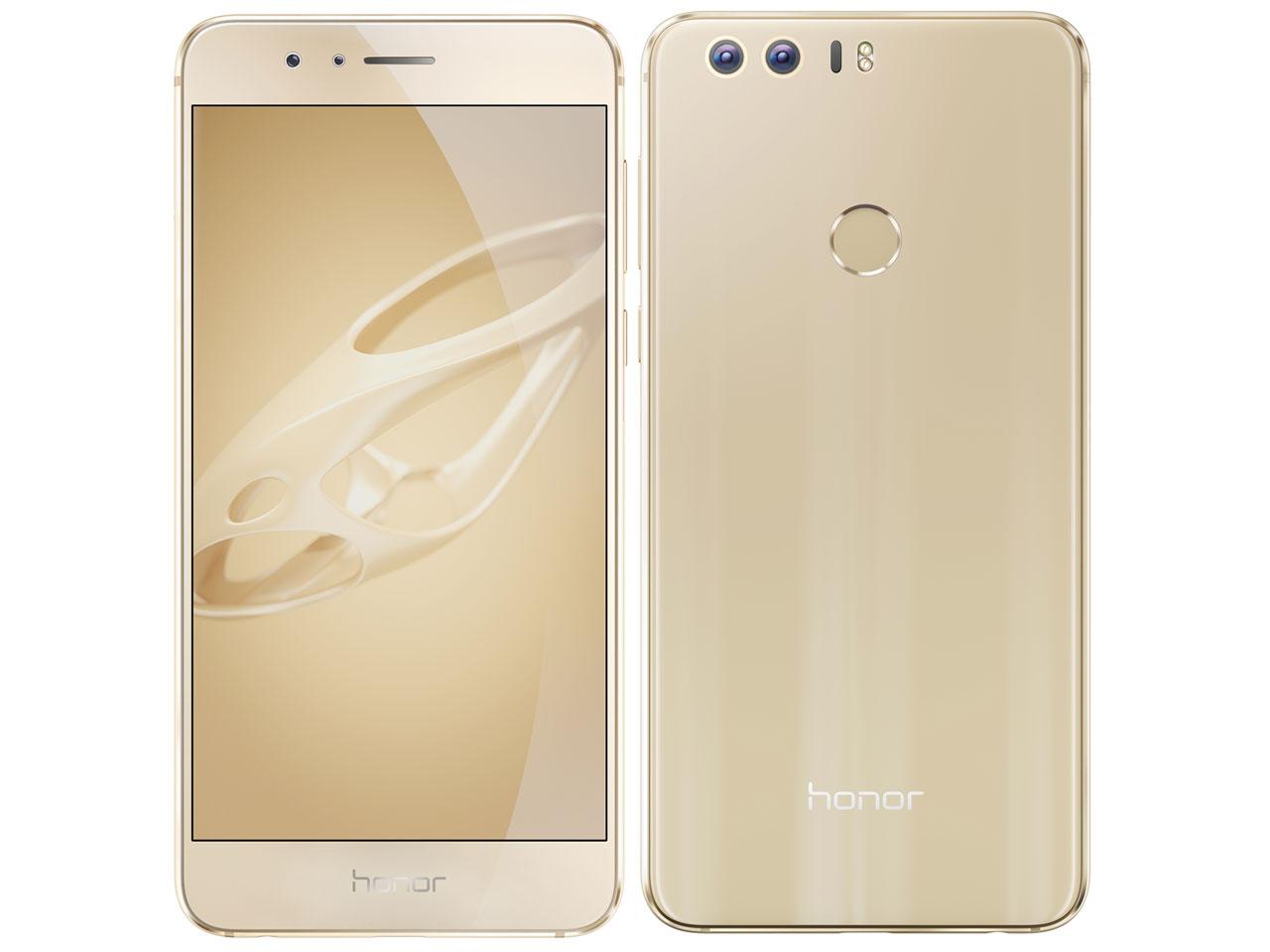 白ロム 中古 SIMフリー Huawei honor 8 Plus RD-L02 ゴールド 本体のみ [Aランク]