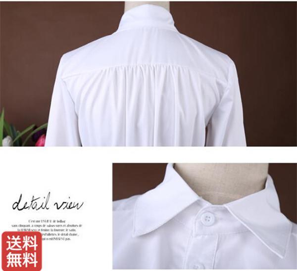 a49daef048313 送料無料即日発送レディースワンピース服白ワンピース長袖レディースファッションワンピースファッション可愛いシャツ