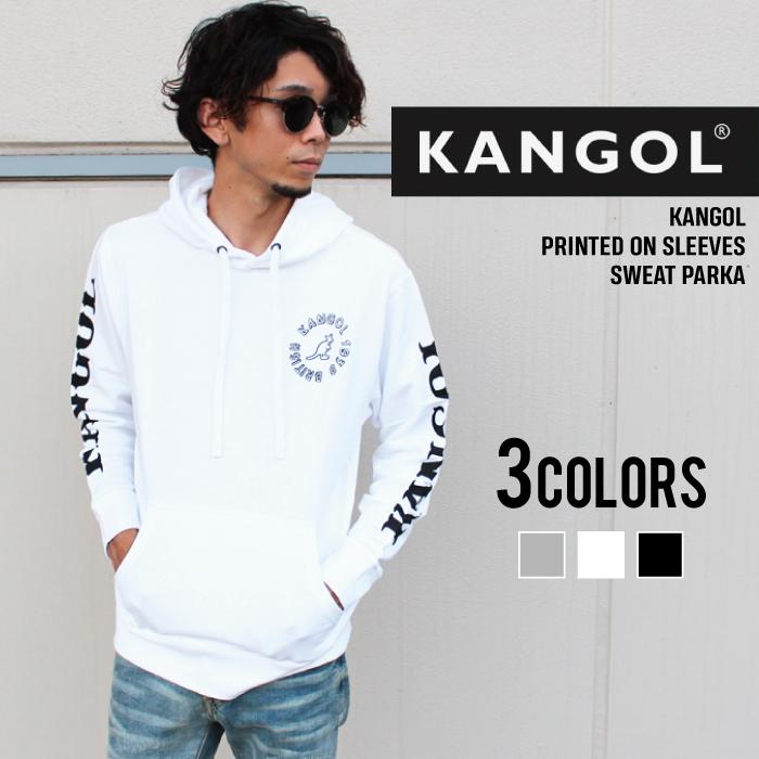 【ZI-ON】メンズ カンゴール KANGOL ロゴプリント パーカー 長袖 プルパーカー スウェット スエット「LCK0041」