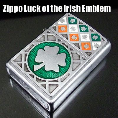 Zippo ZIPPO打火機Luck of the lrish Emblem四個葉子的三葉草21152