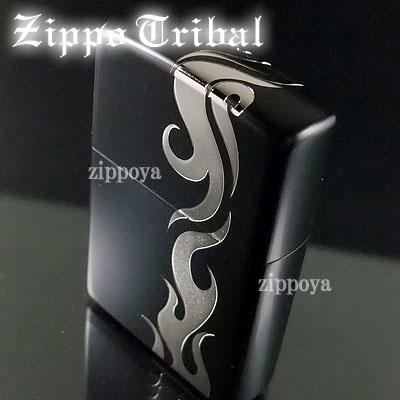 【ZIPPO】ジッポ/ジッポー トライバル マットブラック/シルバーバージョン 5面加工 2bk-trs8
