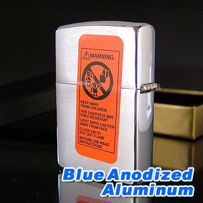 Zippo / 686 Zippo Blue Anodized Aluminum alloy plate