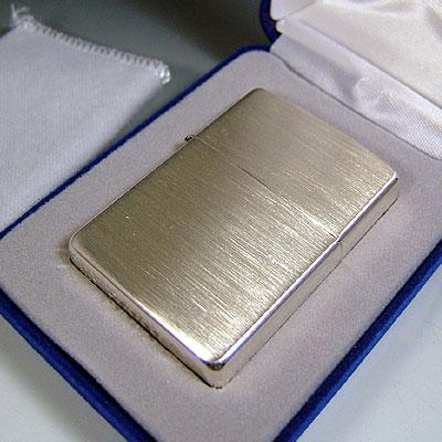 【ZIPPO】ジッポ/ジッポー 純銀13番 Brushed Finish Sterling Silver(ツヤなし) スターリングシルバー