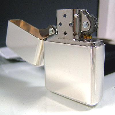 Zippo 라이터 ジッポ 집 영화 26 Armor (아머) 모델 윤기 있어 유형 스털링 실버