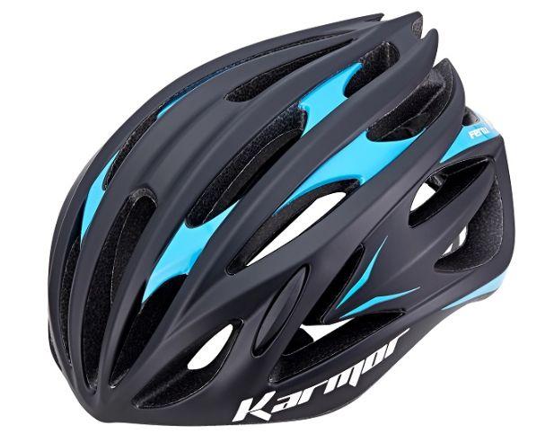 ★送料無料(一部地域除く) KARMOR(カーマー) FEROX2(フェロックス2) ブラック×ブルー 自転車 ヘルメット