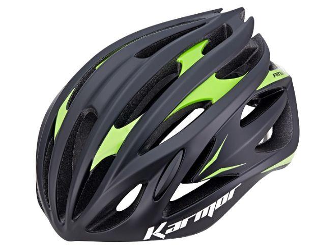 ★送料無料(一部地域除く) KARMOR(カーマー) FEROX2(フェロックス2) ブラック×グリーン 自転車 ヘルメット