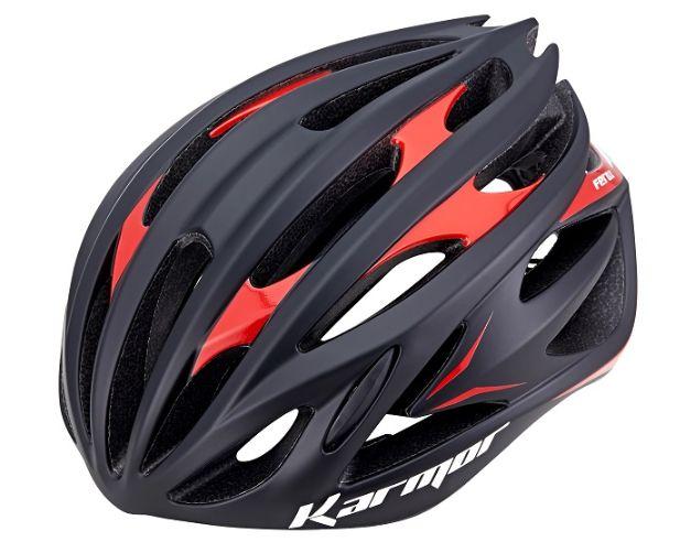 ★送料無料(一部地域除く) KARMOR(カーマー) FEROX2(フェロックス2) ブラック×レッド 自転車 ヘルメット