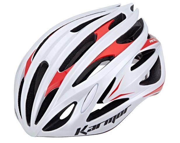 ★送料無料(一部地域除く) KARMOR(カーマー) FEROX2(フェロックス2) ホワイト×レッド 自転車 ヘルメット