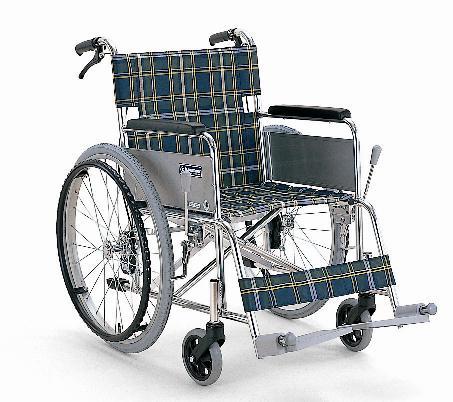 自走式(自繰式)車椅子 カワムラサイクル KA-202SB-40 軽量アルミ バンド式介助者ブレーキ付