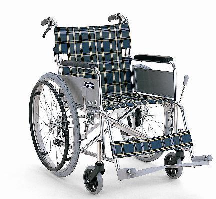 自走式(自繰式)車椅子 カワムラサイクル KA-202SB 軽量アルミ 背折れ式 バンド式介助ブレーキ付