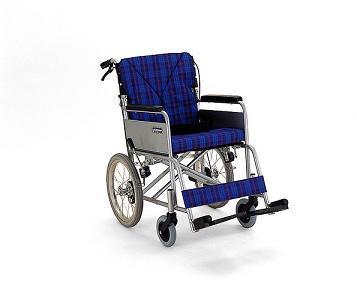 介助式(介護式)車椅子 カワムラサイクル 適合くん16 FA16-38/40/42SB アルミ 背折れ式 介助バンドブレーキ付 座り心地抜群