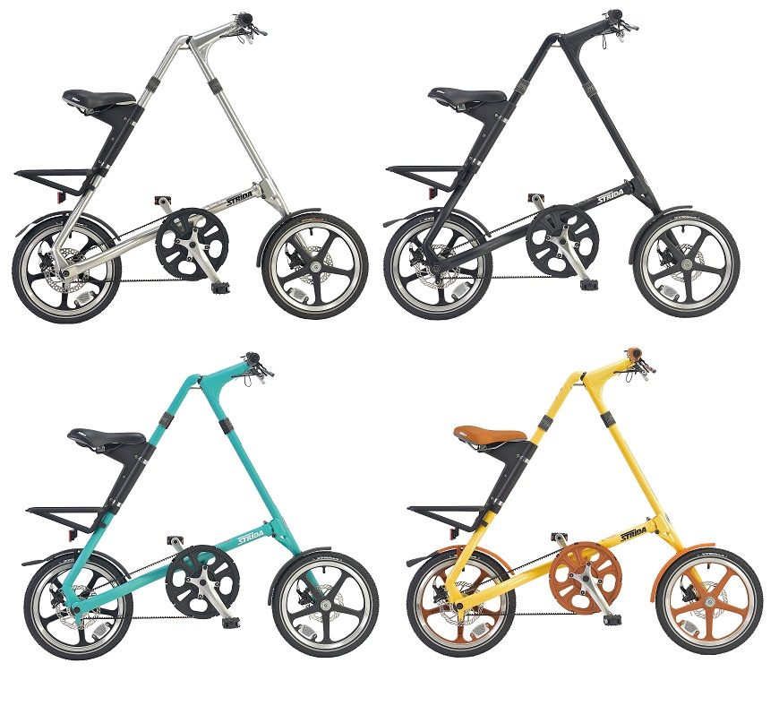 ★【ブラックフライデー~スーパーセール期間限定】[送料無料(一部地域除く)] STRiDA LT(ストライダ エルティー) 16インチ 折り畳み自転車 純正キックスタンド、折り畳みタイプペダル(FD-7BK)、純正輪行袋(ST-BB-007)付属