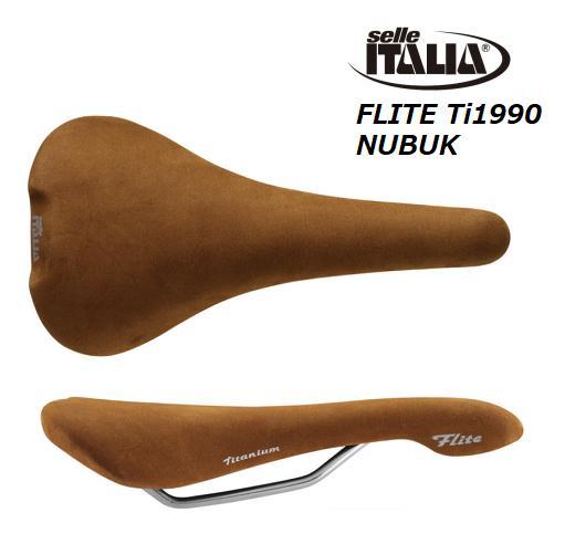 ▲送料無料(一部地域除く) selle ITALIA(セラ イタリア)FLITE1990 Titanium NUBUK(フライト1990チタニウム ヌバック) ブラウン Lサイズ サドル 自転車用品