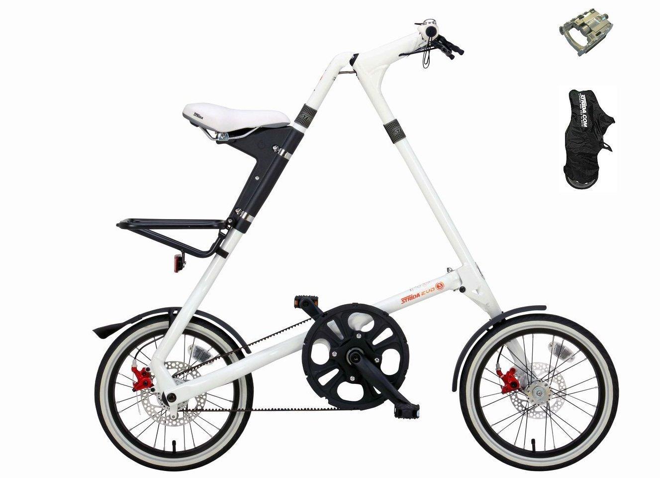 【送料無料(一部地域除く)!防犯登録無料!】【STRiDA EVO16 (ストライダ エヴォ16)】 16インチ折り畳み自転車 MKS FD-7折り畳みペダル、バイクカバーサービス!