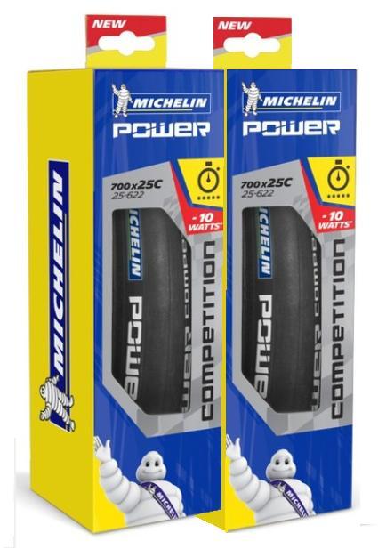 ▲【送料無料(一部地域除く)】 国内正規代理店品 Michelin(ミシュラン) POWER COMPETITION (パワー コンペティション) 700×25C ブラック 2本セット クリンチャータイヤ 自転車
