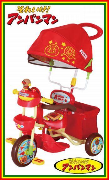 【送料無料!】 M&M(エムアンドエム) それいけ!アンパンマン デラックスII 子供用三輪車 【カラー:レッド】