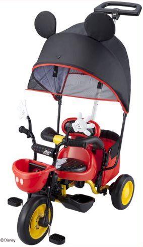 【送料無料!】アイデス(ides) 幼児用三輪車 カーゴ サンシェード ミッキーマウス 三輪車